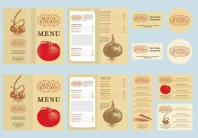Rustic Menu Vector