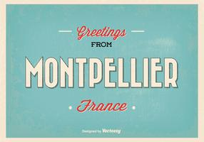 Montpellier France Greeting Illustration