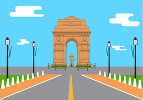 Free India Gate Vector