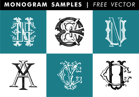 Monogram Samples Free Vector