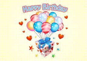 Happy Birthday Balloons Free Vector