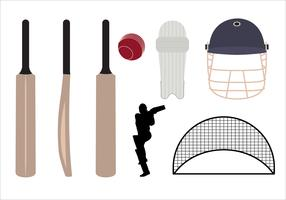 Set of Cricket Symbols and Objects in Vector