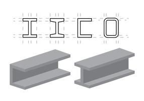 Vector Illustration of Steel Beams