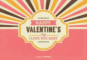 Retro Valentine's Day lllustration