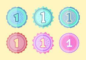 Free 1st Birthday Badges