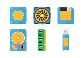 CPU Flat Icons