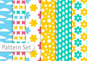 Spring Colorful Pattern Set
