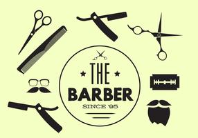 Vector Collection of Barber Tools