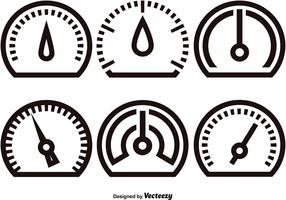 Tachometer linear icons