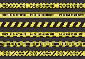 Vector Set of Police Lines