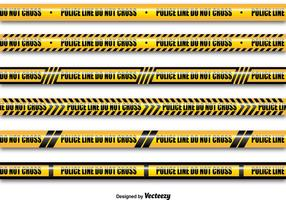 Yellow police lines