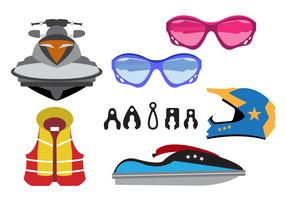 Vector Illustration of Jet Ski Equipment
