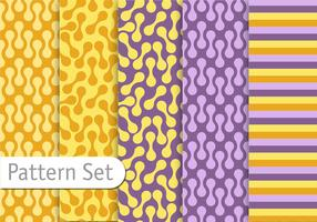 Decorative Colorful Retro Pattern Set