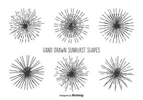 Vintage Sunburst Shape Set
