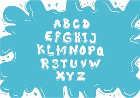 Water Font Vector