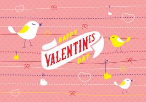 Valentines Day Invitation Card Vector Background