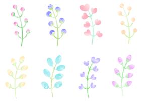 Free Watercolor Plants Vector