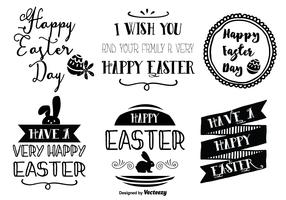Cute Hand Drawn Style Easter Labels