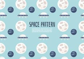 Free Cute Space Pattern Vector Background