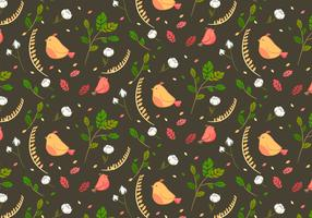 Cotton Floral Pattern Vector