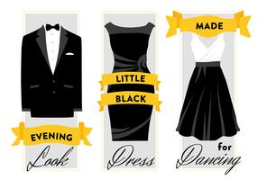 Free Formal Wear Dress and Suit Vector Background