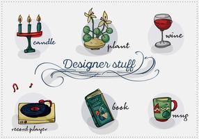 Free Designer Stuff Vector Background