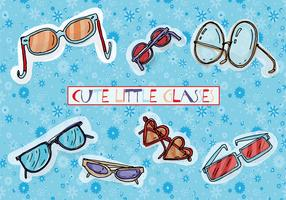 Free Cute Hand Drawn Glasses Vector Background