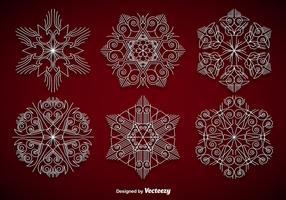 White elegant snowflakes