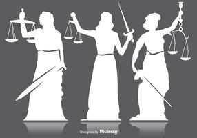 Lady justice silhouettes