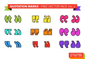 Quotation Mark Free Vector Pack Vol. 2