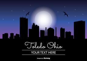 Toledo Ohio Night Skyline