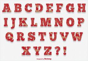 Scratched Paint Style Alphabet