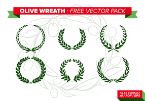 Olive Wreath Free Vector Pack