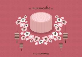 Mooncake Vector Background