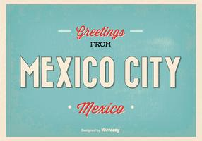 Retro Mexico City Greeting Illustration
