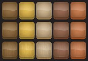 Wood App Button Vectors