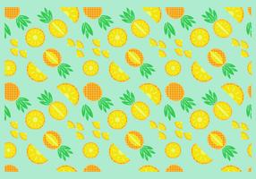 Free Pineapple Seamless Pattern Vector