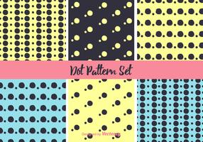Neon Dot Pattern Vector Set