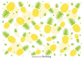 Fresh Ananas Pineapple Vector Pattern