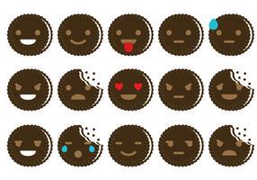 Oreo Emoticon Vectors