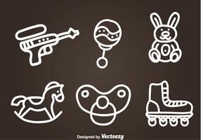 Children Toys Hand Drawn Vector Icons