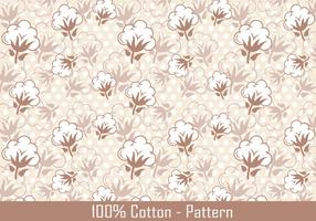 Vector Cotton Plant Pattern
