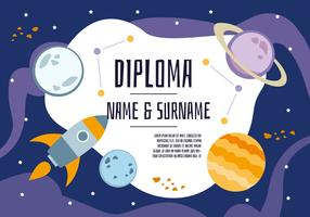 Free Cute Space Diploma Backgorund