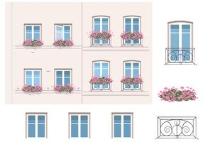 Architecture And Balcony Vector Elements