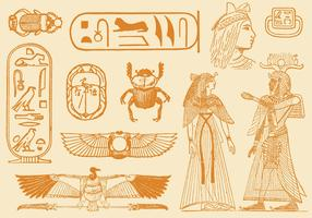 Old Style Drawings Of Egypt