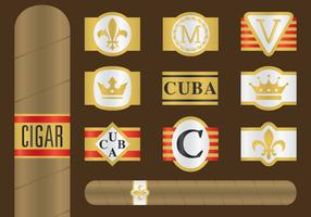 Cigar Label Vectors