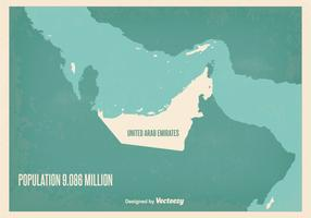 Vintage UAE Map Illustration