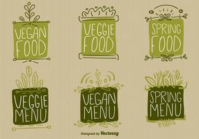 Vegan Food Sign Vectors