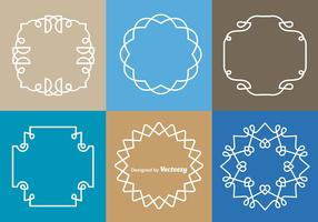 White Monograms Border Vectors