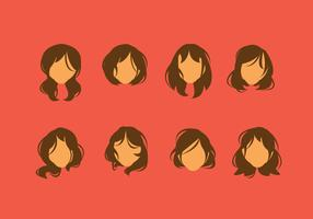 Free Messy Hair Style Vector
